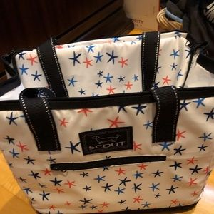 Scout Star Pattern Cooler Bag NWT